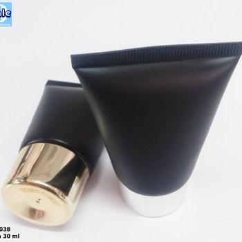 หลอดครีม หลอดเจล หลอดพลาสติก สวยๆ fr0038 30g black