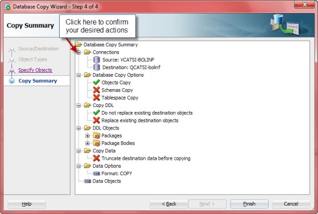 SQL Developer Database Copy - Summary
