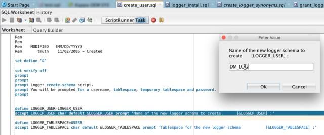Logger Create User Screen Shot