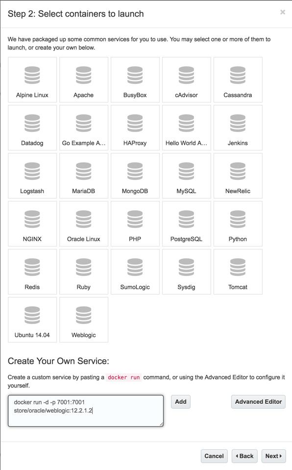 Deploy Weblogic to Oracle Container Cloud Service - dbaonTap