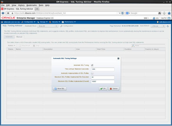 Screenshot-EM Express - SQL Tuning Advisor - Mozilla Firefox
