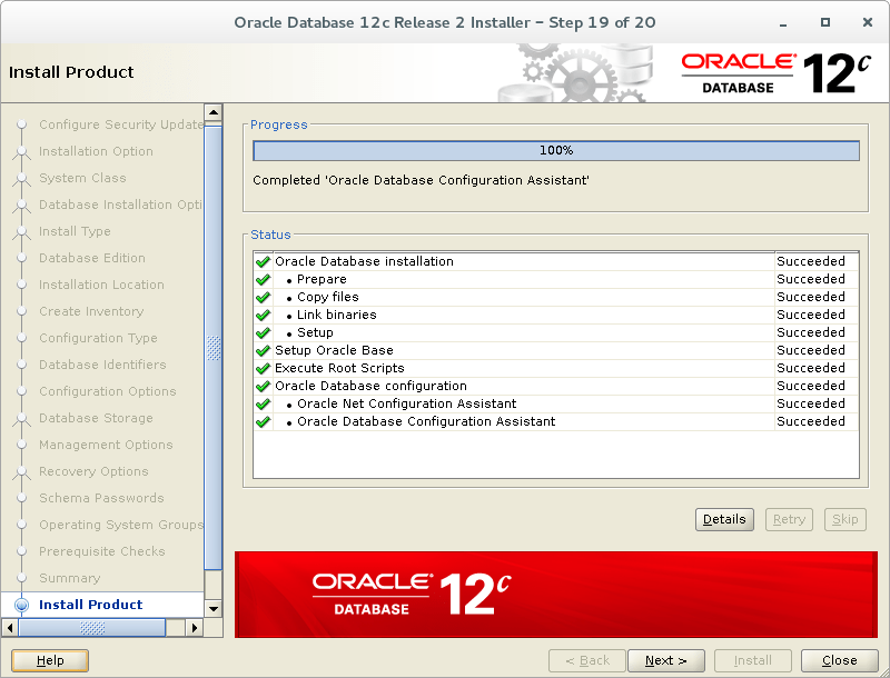 how to create database in oracle 12c step by step