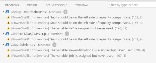 Code problems pane