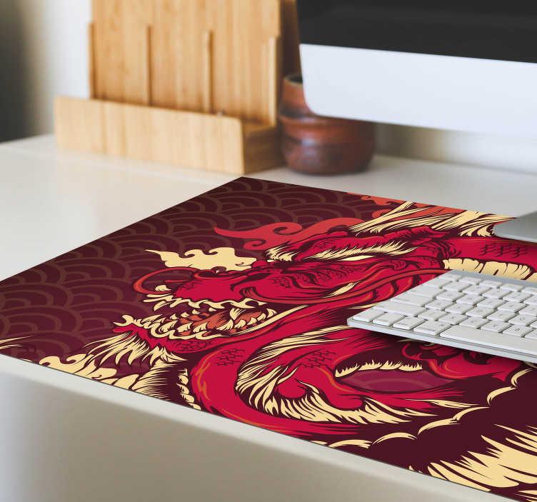 dragon de feu anime tapis de souris en vinyle