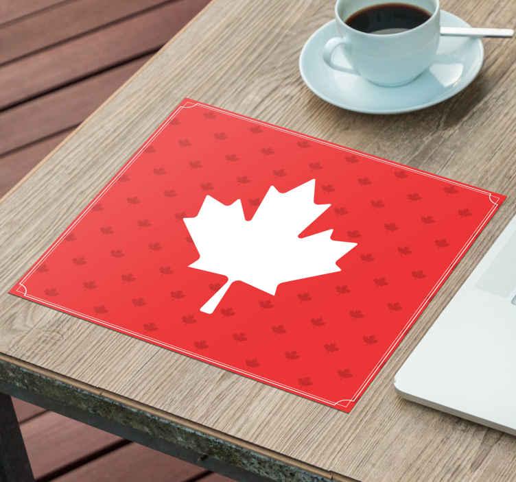 tapis de souris style original feuille canadienne