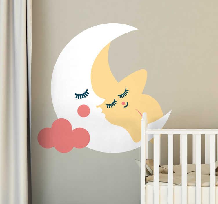 stickers chambre bebe lune et etoile