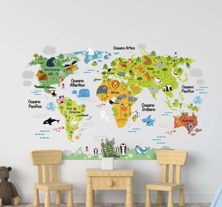 Compra online i tuoi adesivi murali e crea un mondo per il tuo bimbo con leostickers®! Stickers Animali Decorativi Per Pareti Di Casa Tenstickers