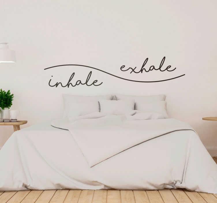 sticker maison inhale exhale