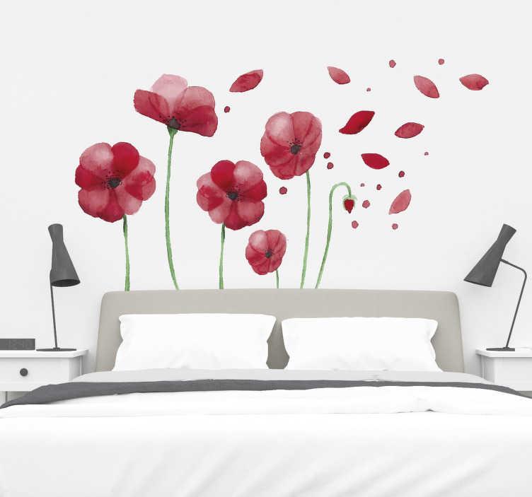 Benvenuto nella sezione adesivi murali 3d camera da letto di eprice. Adesivi Murali Fiori Di Papavero Camera Da Letto Tenstickers