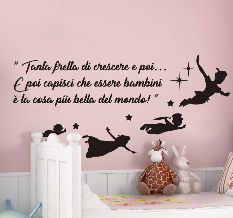 Idee di arredo parole adesivi murali frasi sulla cucina fai da te home decorazioni delle pareti fai da te immagini citazioni preferite dieta divertente Sticker Cameretta Frase Di Peter Pan Tenstickers