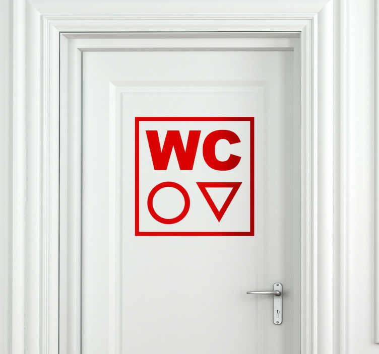 sticker wc symbole