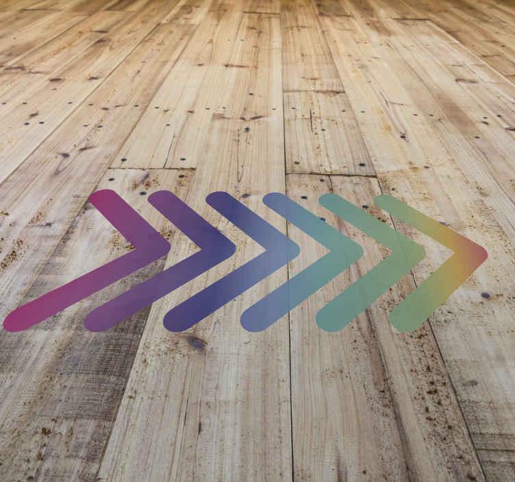line direction vinyl sticker floor tile decal