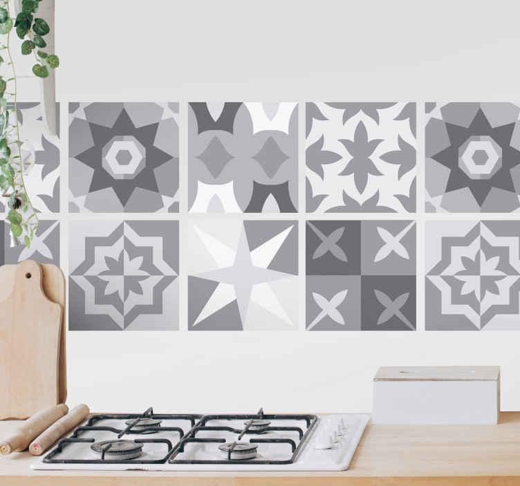 sticker carrelage nuances de gris