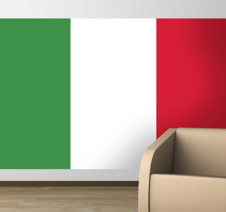 sticker decoratif drapeau de l italie