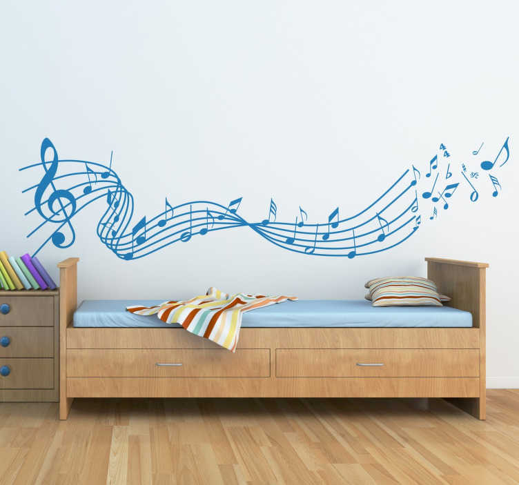 sticker portee musique notes