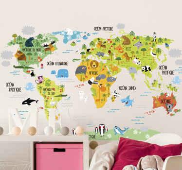 stickers carte du monde pour s evader