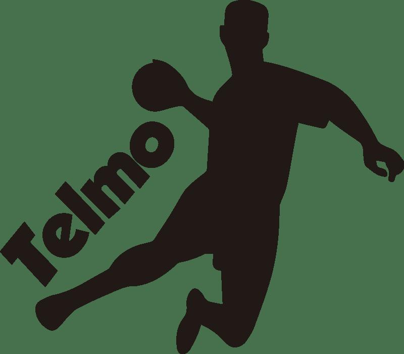 handball spieler silhouette wandtattoo mit namen