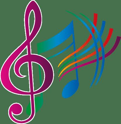autocollant notes musique couleur 50