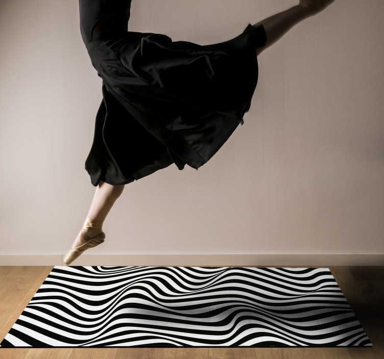 tapis en vinyle bio a rayures 3d