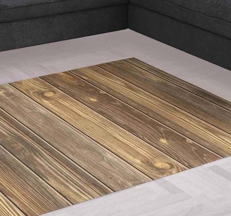 tapis vinyl bois effet bois