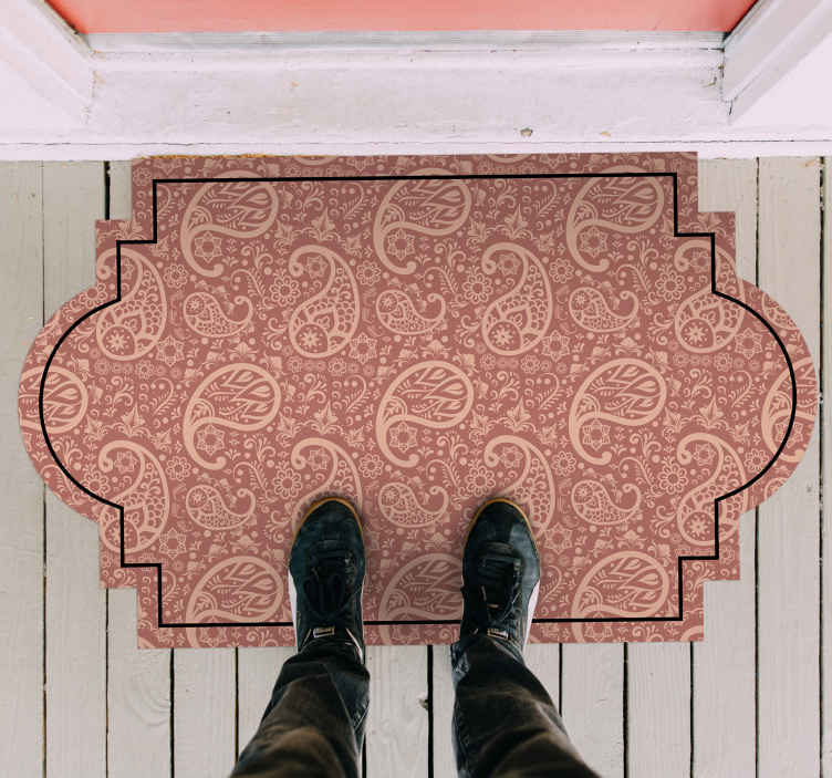 tapis d entree motif paisley
