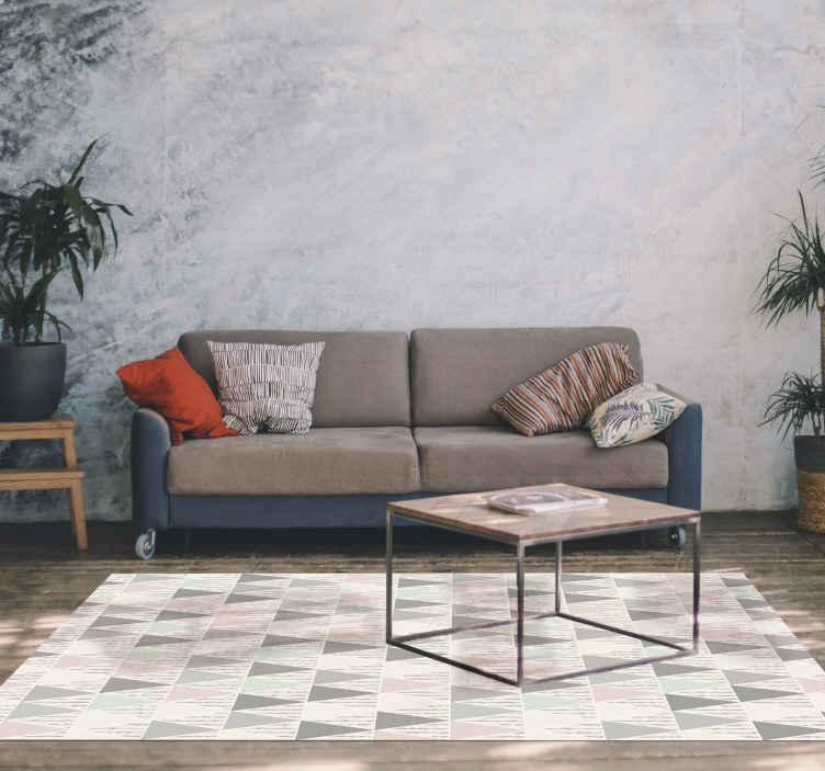 tapis salon style nordique original avec des couleurs