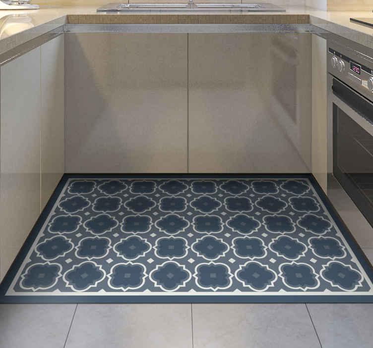 blue mosaic pattern mosaic vinyl flooring