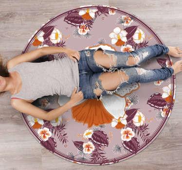 tapis en vinyle rond pour une deco