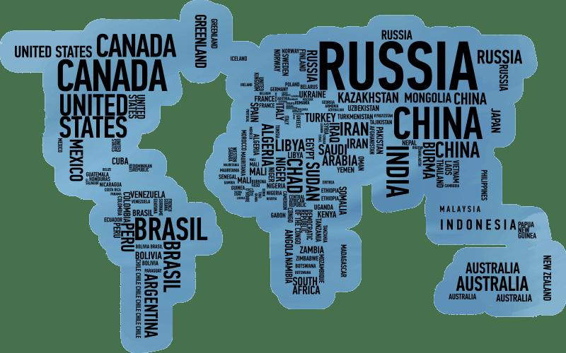 noms de pays tapis du monde carte vinyle