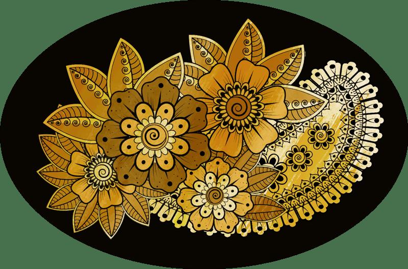 tapis vinyle style indien paisley