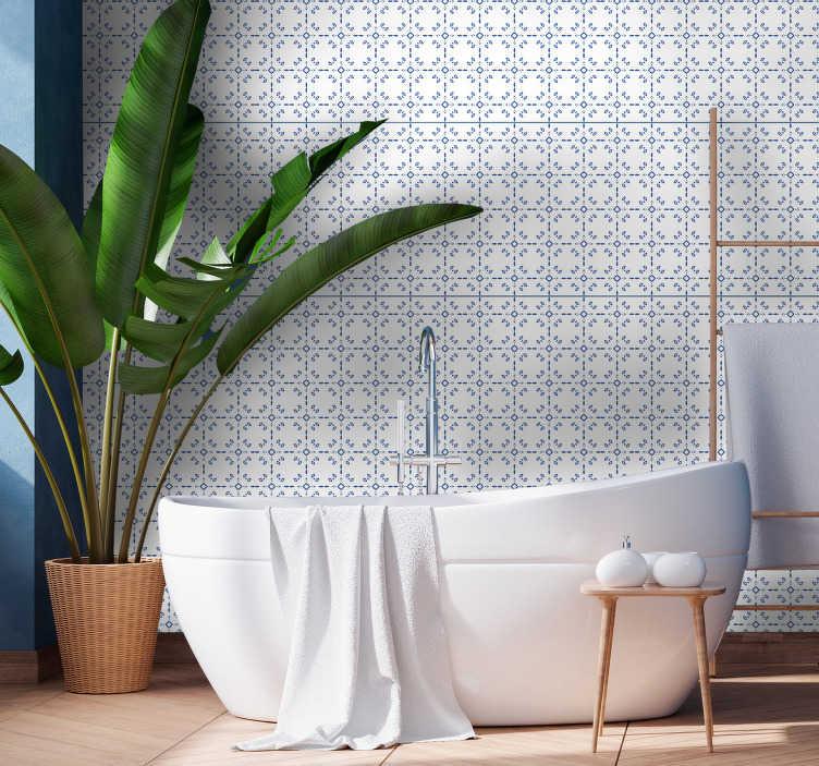 classic bathroom tile wallpaper