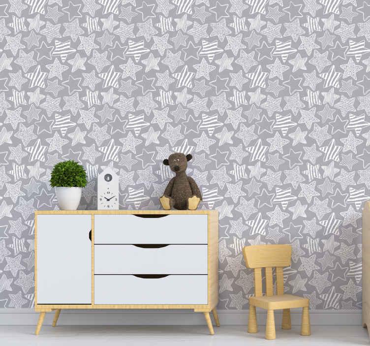 papier peint de la chambre etoile blanche