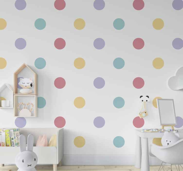 Image about cute in pink by heart's ease on we heart it. Carta Da Parati A Pois Coriandoli Colorati Tenstickers