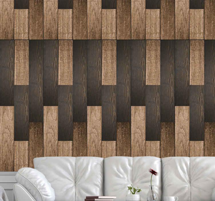 papier peint imitation bois bois fonce