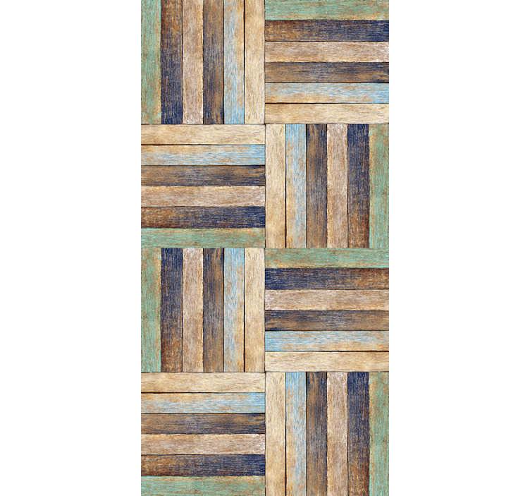 motif papier peint bois colore