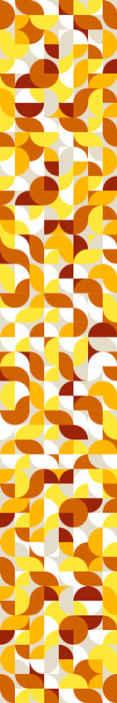 papier peint retro style vintage orange et jaune
