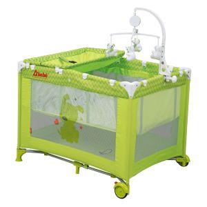 Dbebe corral cuna de viaje zoo baby verde