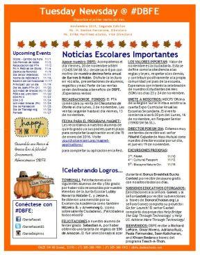 newsletter nov span