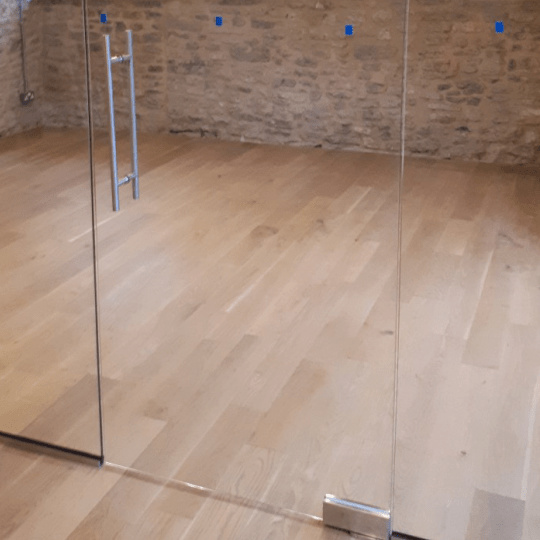Bespoke Glass Door and Fittings