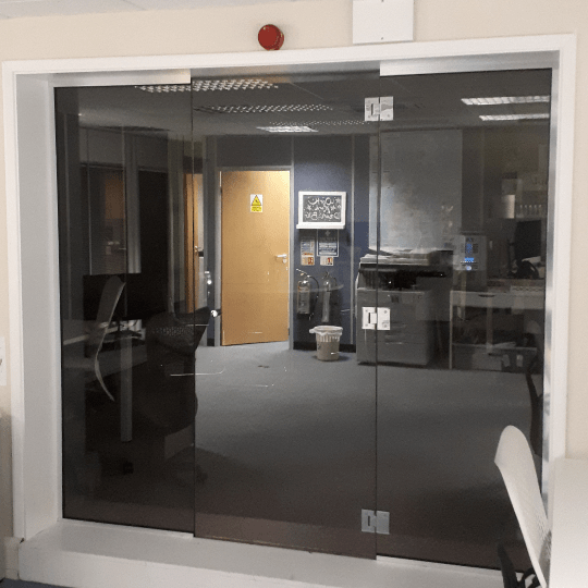 Glass Office Partition and Glass Door
