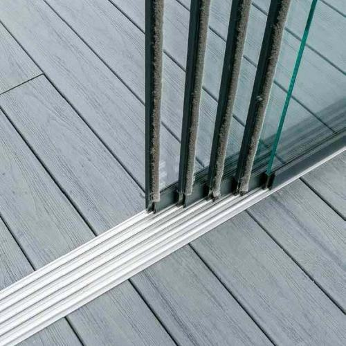 Glasschuifwand systeem onder-rail