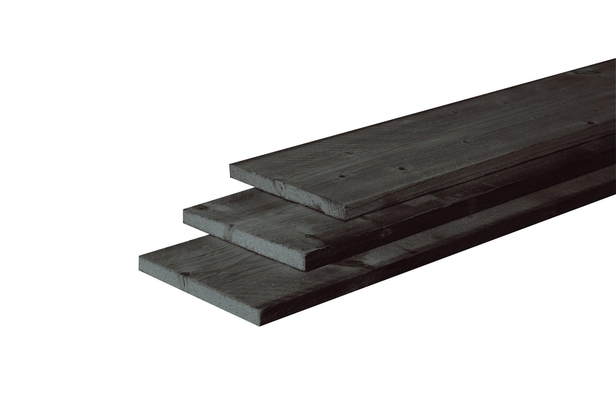 40649-Basic-fijnbezaagde-plank-douglas-zwart-tuintimmerhout