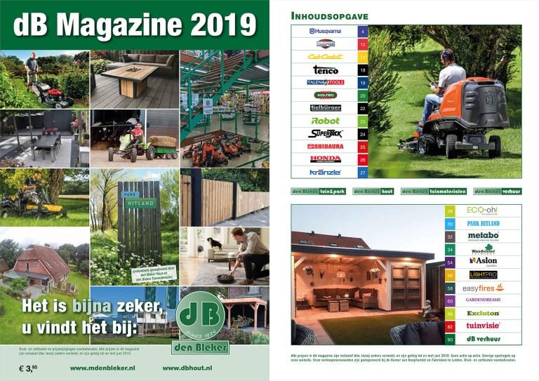 Boordevol nieuwe producten, inspiratie en aanbiedingen! > klik op de afbeelding om meteen naar het dB Magazine 2019 te gaan <