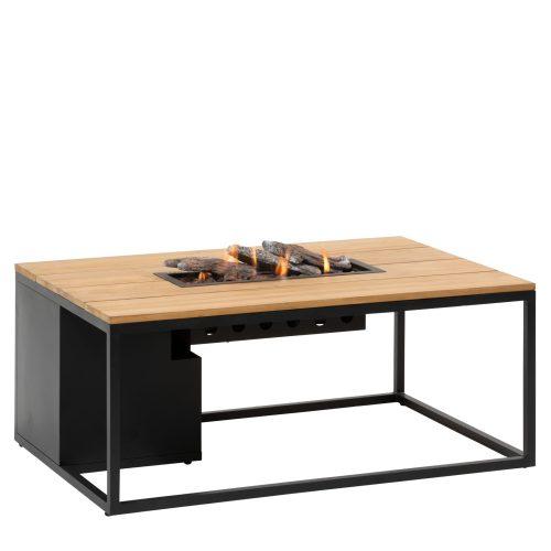 5958750 - Cosiloft 120 lounge table black-teak - side