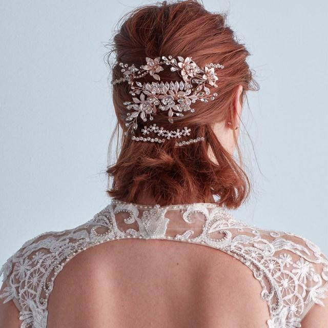7 ways to wear wedding hair accessories - david's bridal blog