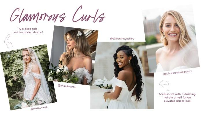 glamorous wedding curls