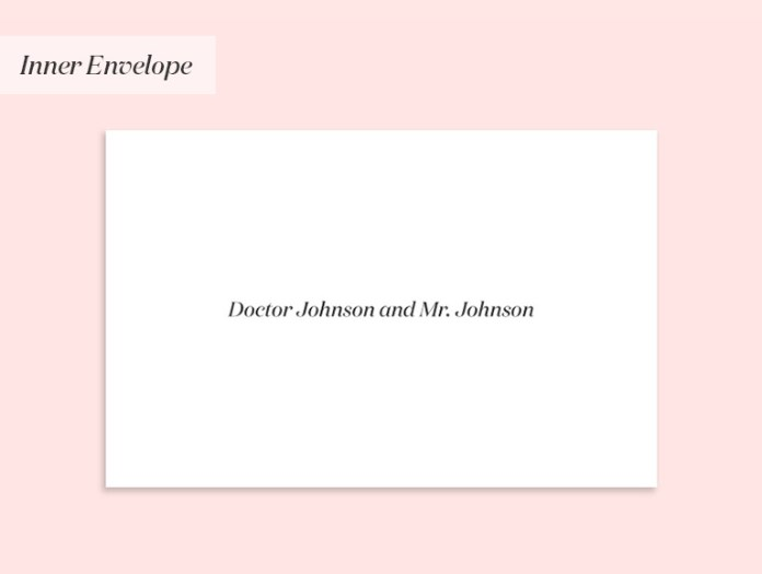 Wedding invitation to a couple where the woman is a doctor