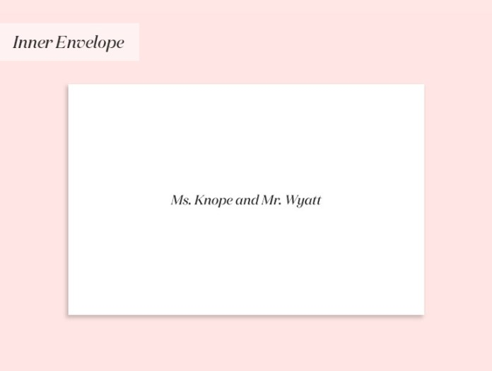 Invitation to a couple with different surnames