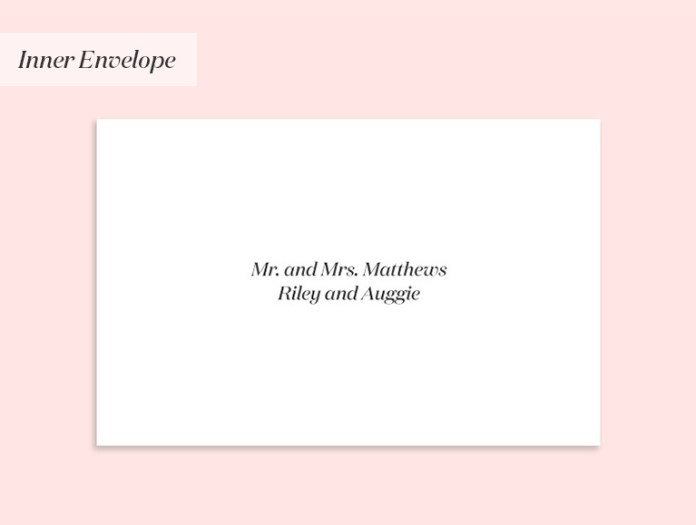 Invitation to a married couple and their children