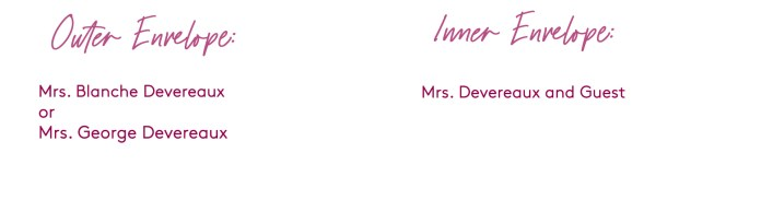 how to address a wedding invitation addressed to a widow (with a guest)